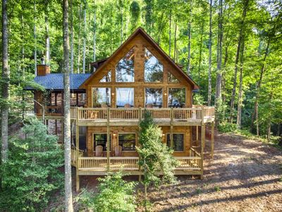Photo for Brand New Spectacular Cabin with Mountain View, Hot tub, WI-FI, & More!