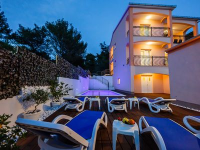 Photo for Villa Nora(heated pool and air con. in every room) island Ciovo Trogir