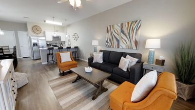 Photo for Relalxing Coastal Chic Retreat - 2 BR/3 Bath Townhome Walking Distance to the Beach!