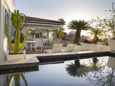 Photo for Deluxe beach house with swimming pool,terrace and sea view