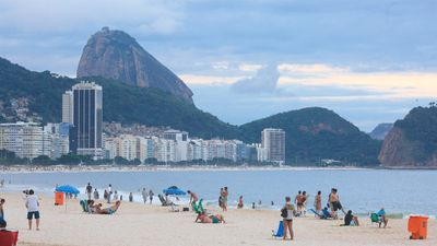 Photo for LARGE APARTMENT, FRONT, ONE BLOCK FROM COPACABANA BEACH AND THE METRO ...