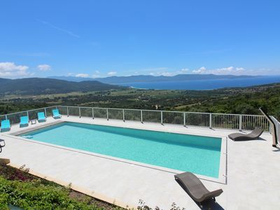 Photo for Magnificent Villa Panoramic Sea View Pool Jacuzzi 4km from the Beach