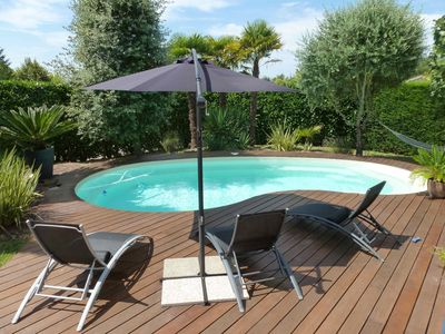 Photo for MODERN HOUSE WITH POOL AND MEDITERRANEAN GARDEN NEAR BORDEAUX AND OCEAN