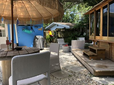 Photo for Unique Tiny Home Space, Indian Rocks Beach Area-Fat Tire Bikes-Enclosed HOT TUB!