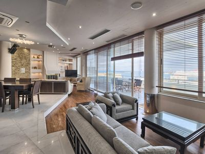 Photo for Luxury apartment overlooking the Venetian Castle and the old port
