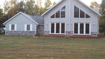 Photo for Beautiful 3BR, 2 1/2 Bath, Chalet style home with wall of windows!