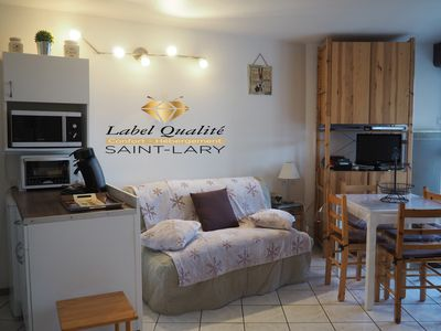 Photo for Neat apartment Saint Lary Soulan Pla d'Adet ski slopes ski MTB