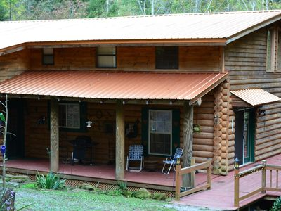 Photo for True Log Home  in the Woods