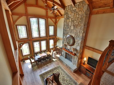 Photo for Beautiful Custom Timber Frame Home with Large Game Room 3600 sq ft