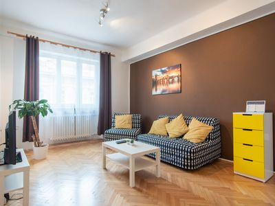 Photo for Charming Vinohrady Apartment for 7 People by easyBNB