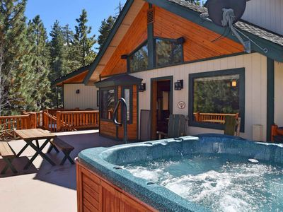 Photo for The Den at Bear Mtn: Near Bear Mountain! Hot Tub! Forest Views! Propane BBQ! Pool/Ping Pong Table!