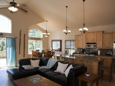 Photo for Spacious yet Cozy Modern Mountain Home w Lake Rights