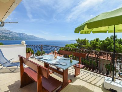 Photo for One bedroom apartment with terrace and sea view Marušići (Omiš)