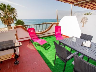 Photo for Beach Getaway with Sun Terrace & Sea View! - One Bedroom Apartment, Sleeps 4