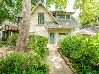 Photo for Wooded Mid-Century Home Steps from South Congress, With Big Back Deck