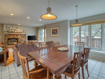 Photo for NEW LISTING! Three-story condo w/decks & fireplace - easy walk/bus to slopes