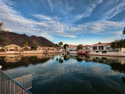 Photo for GORGEOUS 5BD WATERFRONT VILLA W/ DIVING POOL THAT REMAINS COOL IN THE AZ HEAT!