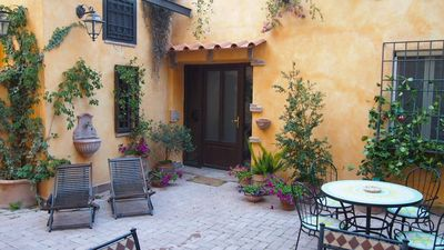 Photo for Two apartments for families or large groups, Vatican area, parking, courtyard.
