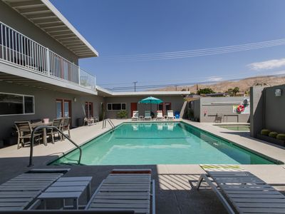 Photo for Cozy Mid Century Modern Mineral Water Pool and Hot Tub Hotel