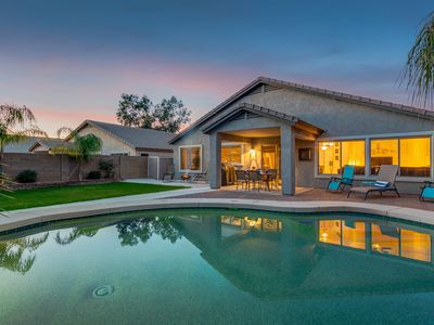 Photo for Great Home! Private Lush Grassy Backyard with Heated Pool and Firepit!