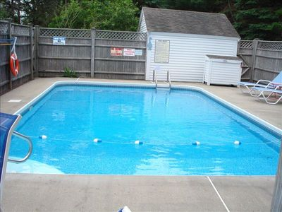 Private, enclosed, heated pool.