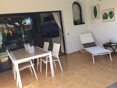 Photo for Villa in Meloneras overlooking the sea and pool, free Wifi !!!