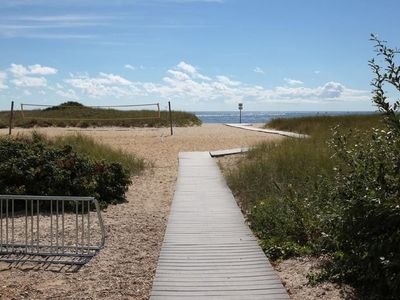 Photo for Walk to private beach and kayak on Great Pond from this roomy  Belmar Cape!