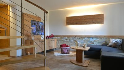 Photo for Alpenlodge: Exclusive apartment with private garden and terrace in Stubai valley