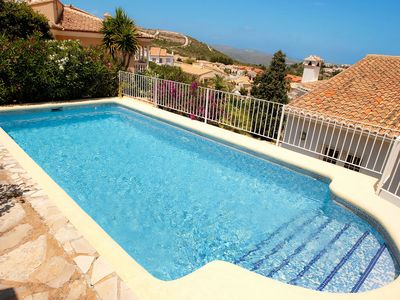 Photo for Wonderful private villa for 6 people with WIFI, A/C, private pool, TV and parking