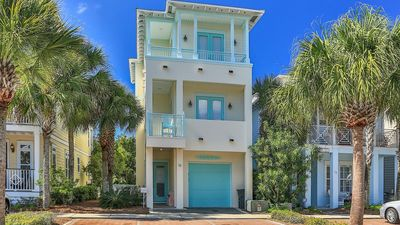 Photo for JUST UPDATED! Panoramic Gulf View, Front Row on 30A, 2 Masters, 8 Bikes, Garage