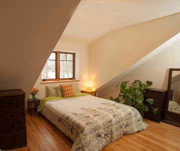 One of the upstairs, identical bed rooms.