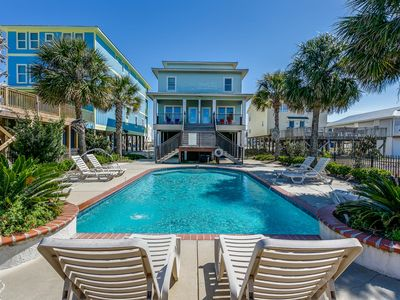 Photo for Steps from the Beach! Large Beach Home with Pool! Private Master Balcony