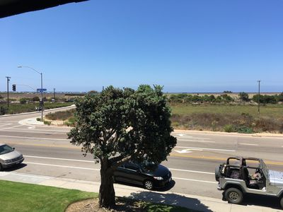 View from 2nd floor; walk across the street, and you enter Torrey Pines Beach