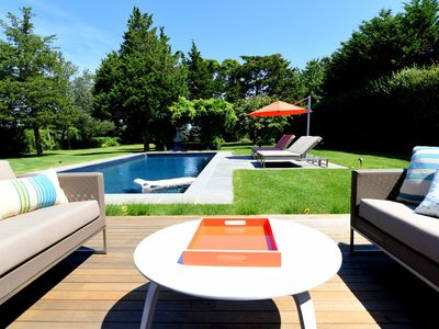 Photo for Brand New Southampton Home Near Beach & Town. Beautiful and Private Yard & Pool