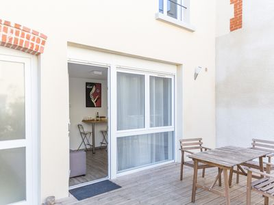 Photo for Studio for 2 with terrace and parking near Reims Cathedral Wi-Fi