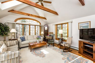 Our sunny family room with views to the great  outdoors!