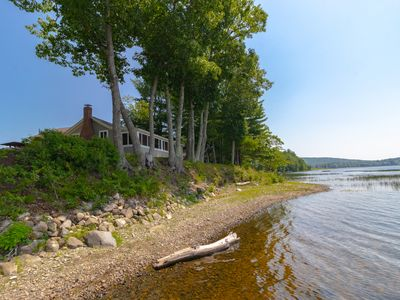 Photo for Peaceful waterfront cabin w/ stunning views & dock - the family dog is welcome!