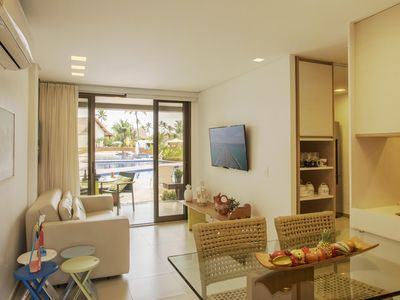 Photo for FLAT WALL HIGH BEACH LUXURY 2 BEDROOMS (1 SUITE) NEAR PORT OF CHICKENS
