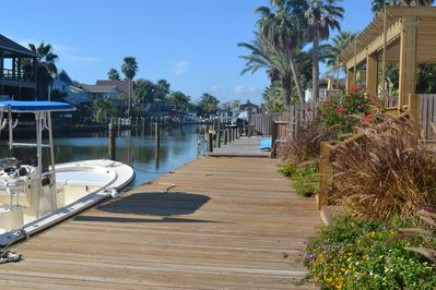 Enjoy the afternoon on our  dock with plenty of room for you boat.