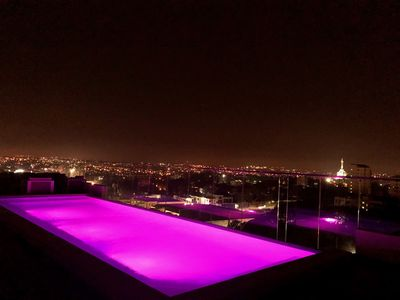 Photo for Luxury High Rise Tower BEST Views  Roof top infinity pool & Gym Modern Suite