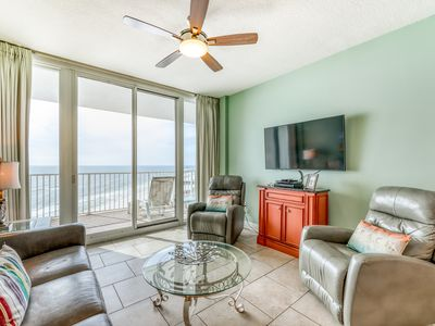 Photo for Beach front condo w/ amazing views, outdoor pool, and fitness room!