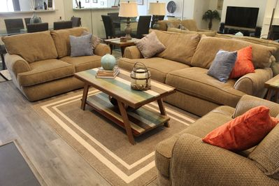 The living area makes you feel right at home.  The furniture is very comfortable