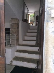 The entry from the street up to the living area