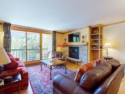 Photo for Lovely ski-in/ski-out condo w/ shared pool & hot tub, mtn. and Beaver Creek view