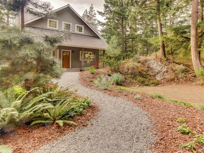 Photo for Lovely Orcas Island Craftsman-style home with filtered water view
