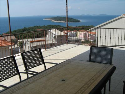 Photo for Two bedroom apartment with terrace and sea view Bilo (Primošten) (A-12434-a)