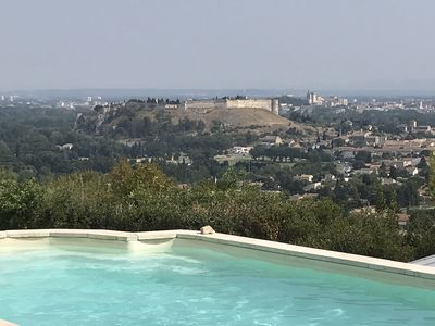 Photo for Architect's villa with breathtaking views of Avignon