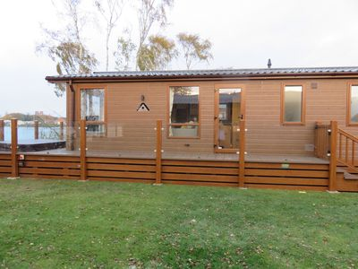 Photo for Tattershall Luxury Lodge with Hot Tub & Lakeside view en suite with 3 bedrooms