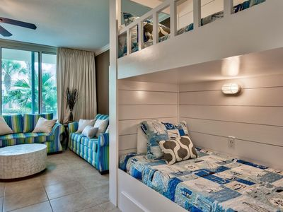 Photo for Waterscape 1 bedroom with bunks walkout unit -on the beach-