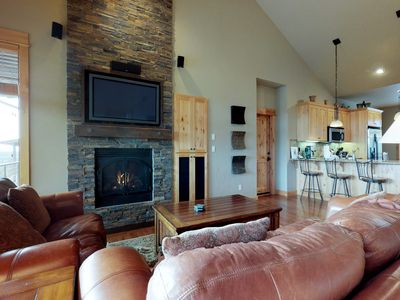 Photo for Dog-friendly home w/ a private hot tub, huge deck, shared pool, tennis, & golf